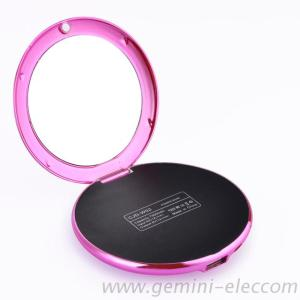 Fancy Mirror Power Bank 7000Mah Compact Mirror Charger For Lady