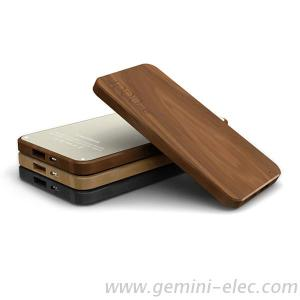 Fancy Wooden Power Bank 4000Mah Slim Power Bank Mobile Charger