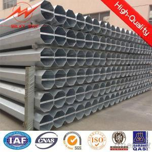 Low Voltage Galvanized Electrical Transmission Pole