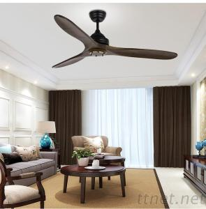 52 Inch Wood Blade Ceiling Fan With Remote Control