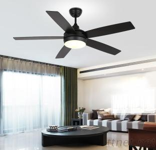 52 Inch High Efficient Ceiling Fan Light With 5 Pieces Reversible Wood Blade Remote Control