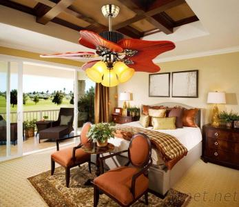42 Inch Ceiling Fan Light With 5 Pieces Wood Blades Pull Cord Control