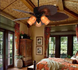 52 Inch South East Asia Style Plastic Blade Ceiling Fan