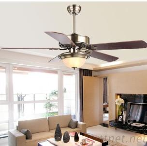 52 Inch Energy Star Ceiling Fan With 5 Pieces Reversible Wood Blade And Single Led Light Remote Control