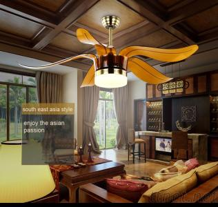 52 Inch Plastic Blade Ceiling Fan With Led Light Kit Remote Control