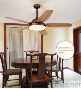 52 Inch Plastic Blade Ceiling Fan Light With Remote Control