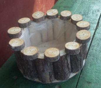Wood Garden Baskets For Planting Wooden Planters