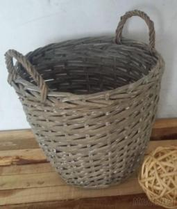 Wicker Willow Baskets For Flower Planting Round Willow Planter