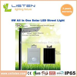 Solar Power 8W/12W Integrated Solar LED Street Light CE RoHS IP65 Approved