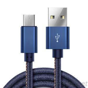 Jeans Stitched USB Cable, USB a to Lightning Cable / Type C Cable / Micro USB Cable