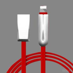 Solid Zinc Alloy Flat Fast Charging Lightning USB Mobile Phone Cable For IPhone