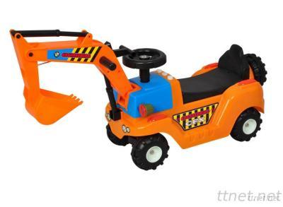 Ride-On Toy Car Riding Digger With Light & Music