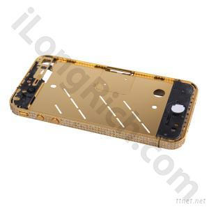 iPhone4S Diamond Metal Mid Bezel Frame Plate With Acessories-Golden
