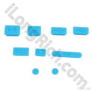 Soft Silicone Dustproof Plug For Apple Macbook Pro and Air--Blue