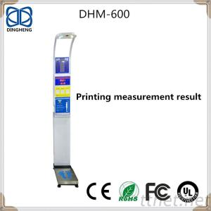 Digital Height And Weight Scale With Coin Operation And Printer BMI Scale DHM-600