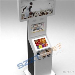 Self Service Bill Payment Dual-Screen Kiosk With Card Reader & Barcode Reader