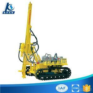 Diesel Engine And Electric Double Power Hydraulic Crawler Mounted Low Air Pressure Blast Hole Drilling Rig