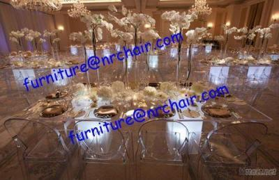 Banquet Hall Commercial Dining Acrylic LED Table
