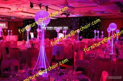 Wedding Party Acrylic LED Lighted Table Decorative Centerpiece(With Crystal Ball)(NR_ALC019)