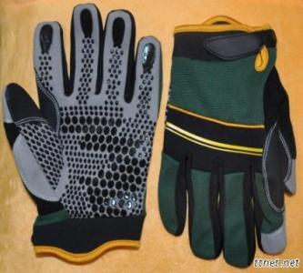 Synthectic Leather Hand Protective Mechanic Gloves