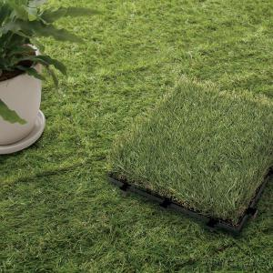 wholesale DIY synthetic garden grass floor tiles