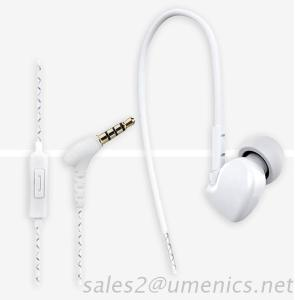 Light Weight Handsfree Sports Earphone With Mic And Ear-Hook
