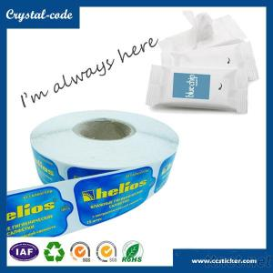 Waterproof resuable facial wet wipes label