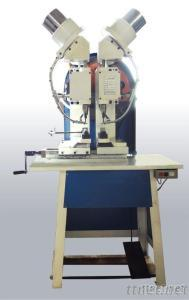 Double Heads Eyelet Machine