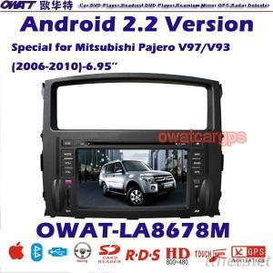Car DVD Player for Mitsubishi Pajero with Android System 3G Dongle Function and WIFI Card