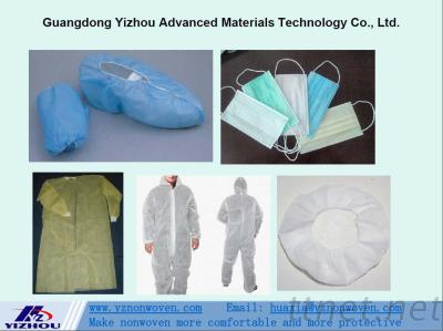 PP Spunbond Nonwoven Fabric for Face Mask, Protection Articles, Surgical Gown, Shoes Cover, etc.