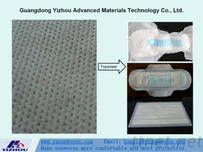 Perforated Hydrophilic PP Spunbond Nonwoven Fabric for Topsheet of Baby & Adult Diaper, Sanitary Napkins, Panty Liners, Pet Mat etc.