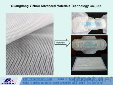 Perforated Round Hole Hydrophilic PP Spunbond Nonwoven Fabric for Topsheet of Baby & Adult Diaper, Sanitary Napkins, Panty Liners, etc.