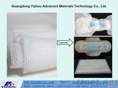 Embossed Pearl Hydrophilic PP Spunbond Nonwoven Fabric for Topsheet of Baby & Adult Diaper, Sanitary Napkins, Panty Liners,  etc.