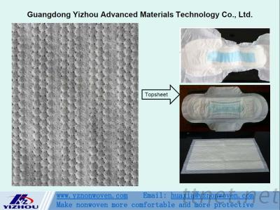 Perforated And Embossed Hydrophilic PP Spunbond Nonwoven Fabric for Topsheet of Baby & Adult Diaper, Sanitary Napkins, Panty Liners, etc.