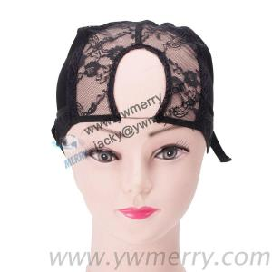 U Part Glueless Lace Wig Cap For Making Wigs With Adjustable Straps Weaving Caps For Wigs