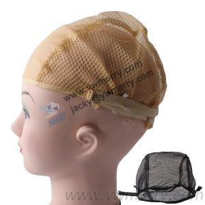 Breathable Wig Cap Hairnet Adjustable Nylon Weaving Mesh Wig Caps With Lace Straps For Making Wig