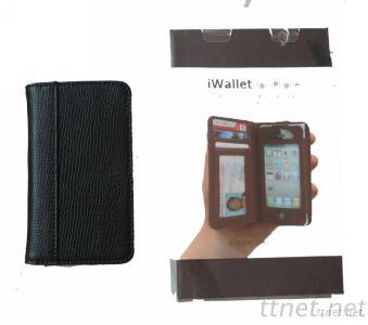 Cell Phone Wallet W/Credit Card Slot & Cash Pocket for All iPhone 4/4S