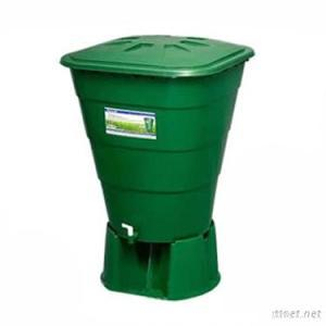 250L Plastic Rain Water Barrel With Lid And Base