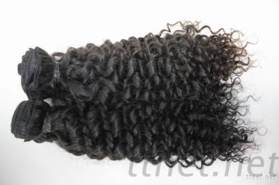 100%Remy Human Curly Hair Weft