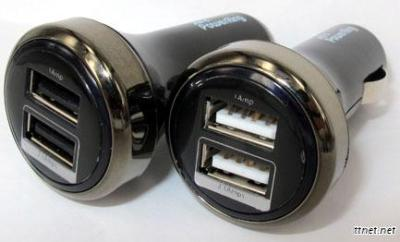 Dual USB, 2.1A Output Blue Light In Car Charger