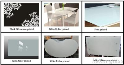 The CE SGCC CSI Certification Of Printed Toughened Glass For Table