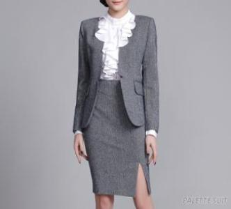 Bespoke High Quality Black Wool Women'S Formal Suits With Skirt