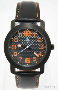 Black Stainless Steel Men's And Women's Wrist Watches