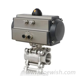 3-PC Threaded Double Acting Single Acting Pneumatic Ball Valve