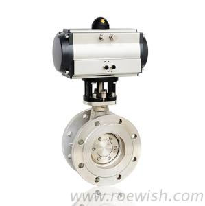 Double Acting Spring Return Pneumatic Flanged Butterfly Valve