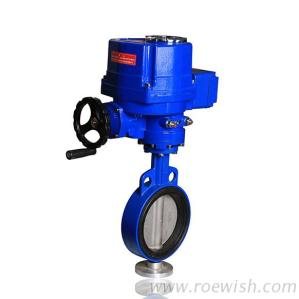 Electric AC220V DC24V Motorized Wafer Butterfly Valve