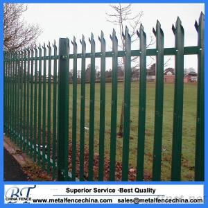 Colorful Or Galvanized Steel Palisade Fence