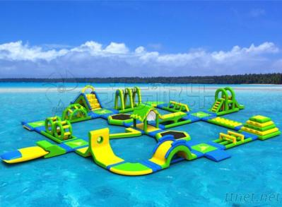 Cheap giant adult inflatable water obstacle course, inflatable floating water park