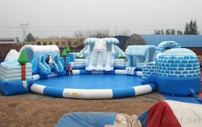 Outdoor giant kids Inflatable amusement water park games for sale