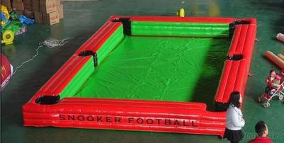 Cheap price adult games inflatable snooker pool soccer table ball for sale